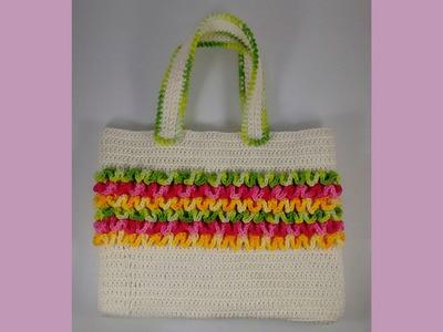 Como fazer esta linda bolsa de Crochê.Aula 1 #FACAVOCEMESMO