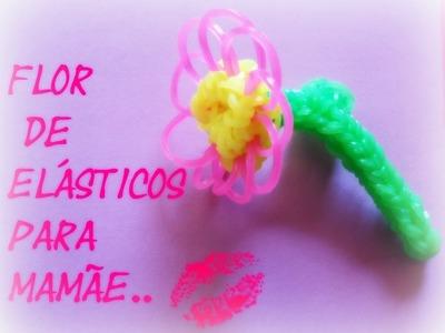 Flor de elásticos para mamae