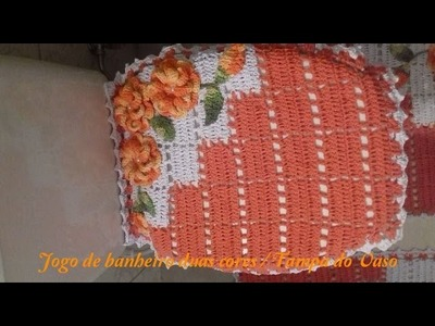 JOGO DE BANHEIRO DUAL COLOR TAPETE VASO 01 PARTE. CRISTINA COELHO ALVES;
