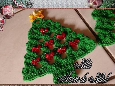 Mini Arvore de Natal em crochê