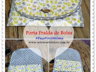 Porta Fralda de Bolsa #tutorial