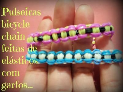 Pulseiras bicycle chain de elásticos .  (corrente de bicicleta)