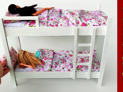 Como fazer Mini Beliche para Barbie e outras Bonecas!