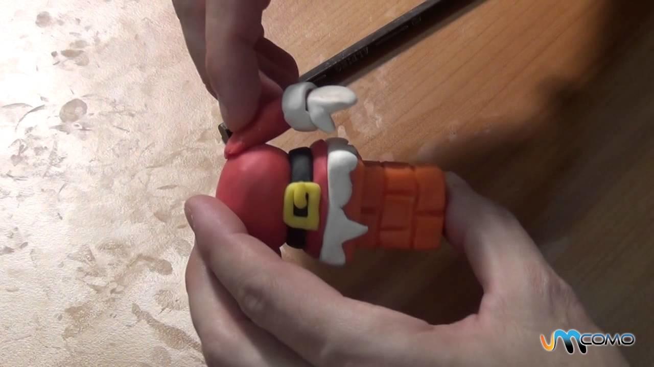Como fazer Papai Noel em plasticina