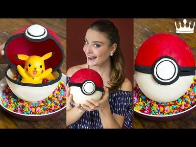 COMO FAZER POKEBALL (POKÉBOLA) DE CHOCOLATE! (Pokémon Go)   Gabi Rossi   Cozinha do Bom Gosto