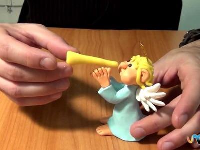 Como fazer um anjo em plasticina
