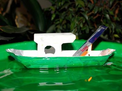 Como fazer um Barco a Vapor - (Com Materiais Reciclados)