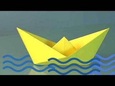 Como fazer um barco de papel, origami