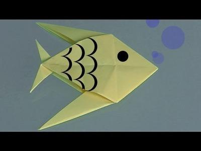 Como fazer um Peixe de papel, origami