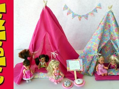 Como Fazer uma Cabana de Festa do Pijama Para Barbie e Outras Bonecas!