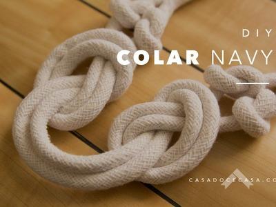 DIY: colar navy de corda | casadocecasa.com