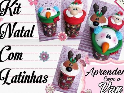 (DIY) Kit Natal com Latinhas Recicladas (Reciclando lata #4) (Maratona de Potes #29)