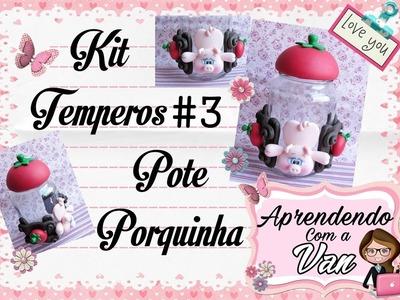 (DIY) Kit Temperos #3 Pote Porquinha (Maratona de Potes #12)