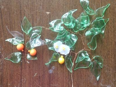 Flores para bonsai de material reciclado
