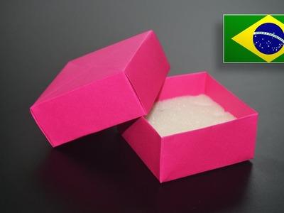 Origami: Caixa de Jóias - Instruções em Português PT BR