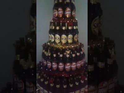 Árvore   de  natal de  garrafa  de  cerveja