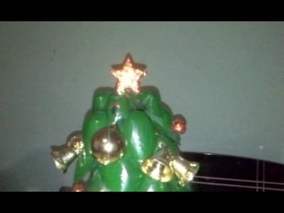 Como fazer Árvore  de Natal de garrafa pet