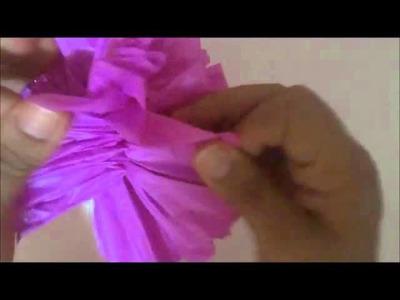 Como fazer pompom de seda