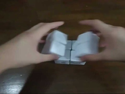 Como Fazer um Cubo de Papel Infinito!