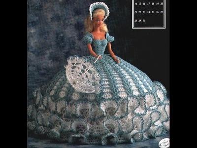 Crochê. Barbie Vestidos de Princesa para Bonecas no Canal Pecunia MillioM