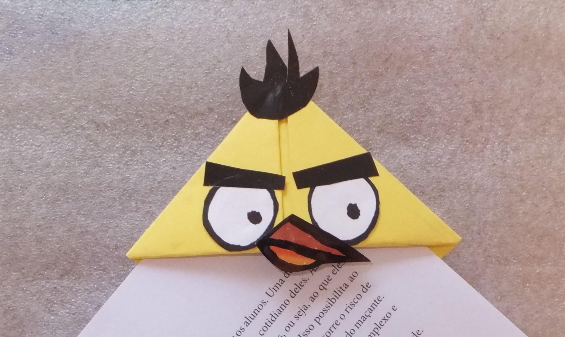 DIY Volta as aulas, Angry Birds marcador de livros  - pássaro amarelo