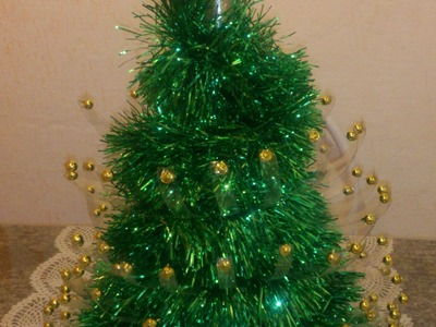 Mini Árvore de Natal Reciclada com Garrafa Pet (Passo-a-Passo)