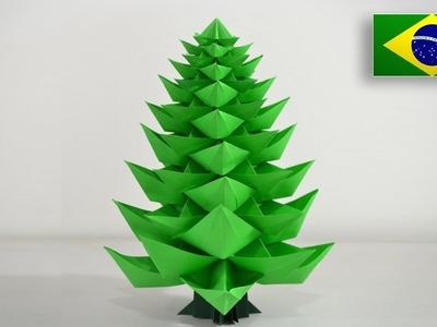 Origami: Árvore de Natal 2.0 - Instruções em Português BR