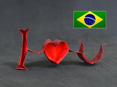 Origami: I Love You ( Jeremy Shafer ) - Instruções em português PT BR