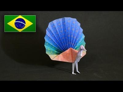 Origami: Pavão - Instruções em Português PT BR