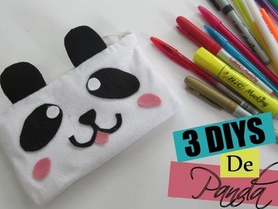 3 DIYS de Panda | Estojo de feltro sem costura | Wivye