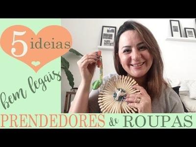 5 IDEIAS COM PRENDEDORES, por Camila Camargo