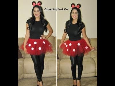 Como Fazer Fantasia de Minnie (Halloween 2015) by Customização cia