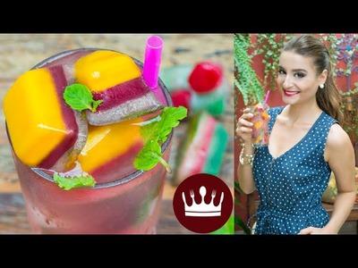 Como fazer GELO COLORIDO + CHÁ DETOX! | Gabi Rossi | Cozinha do Bom Gosto