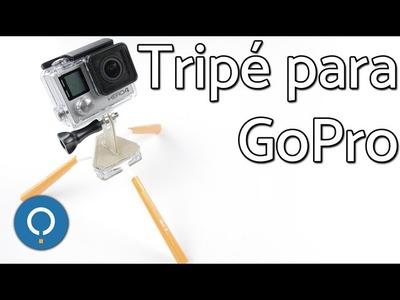 Como fazer um Tripé para GoPro caseiro | DIY FÁCIL