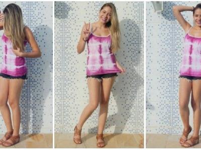 Customização de camiseta para o verão