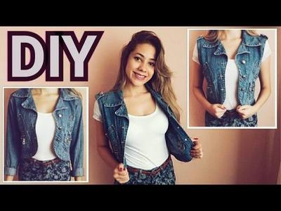 DIY - Colete Jeans Feminino
