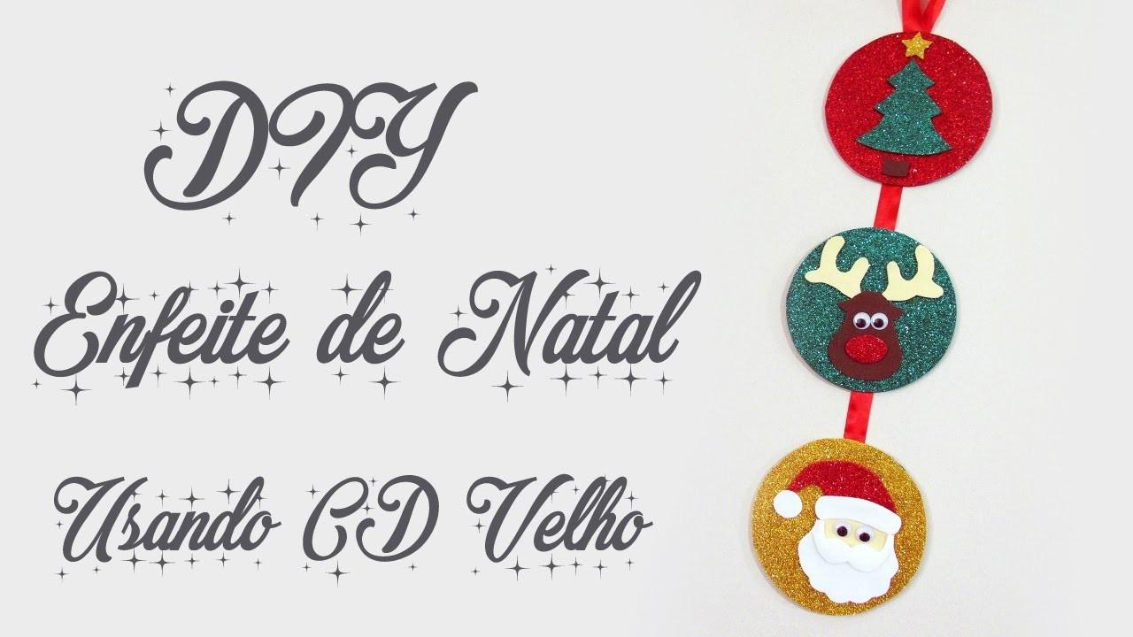 DIY: COMO FAZER ENFEITE DE NATAL com CD VELHO | Ideias Personalizadas