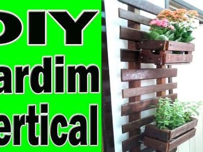 DIY Como fazer um jardim vertical de maneira facil