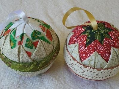 Bolas de natal com patchwork - Aula parte única
