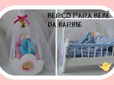 Como fazer berço para o bebê da boneca Barbie