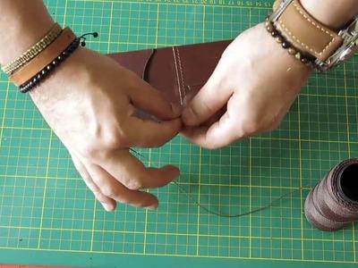 Como fazer carteira de couro - Passo a passo