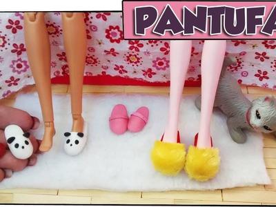Como fazer: Pantufas para bonecas Barbie, Monster High, Baby Alive, E.A.H entre outras!
