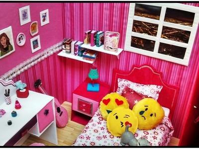 Como fazer: Um quarto decorado para bonecas Barbie, Monster High, Baby Alive, E.A.H entre outras!