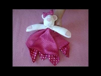 Como fazer uma naninha para bebê passo a passo