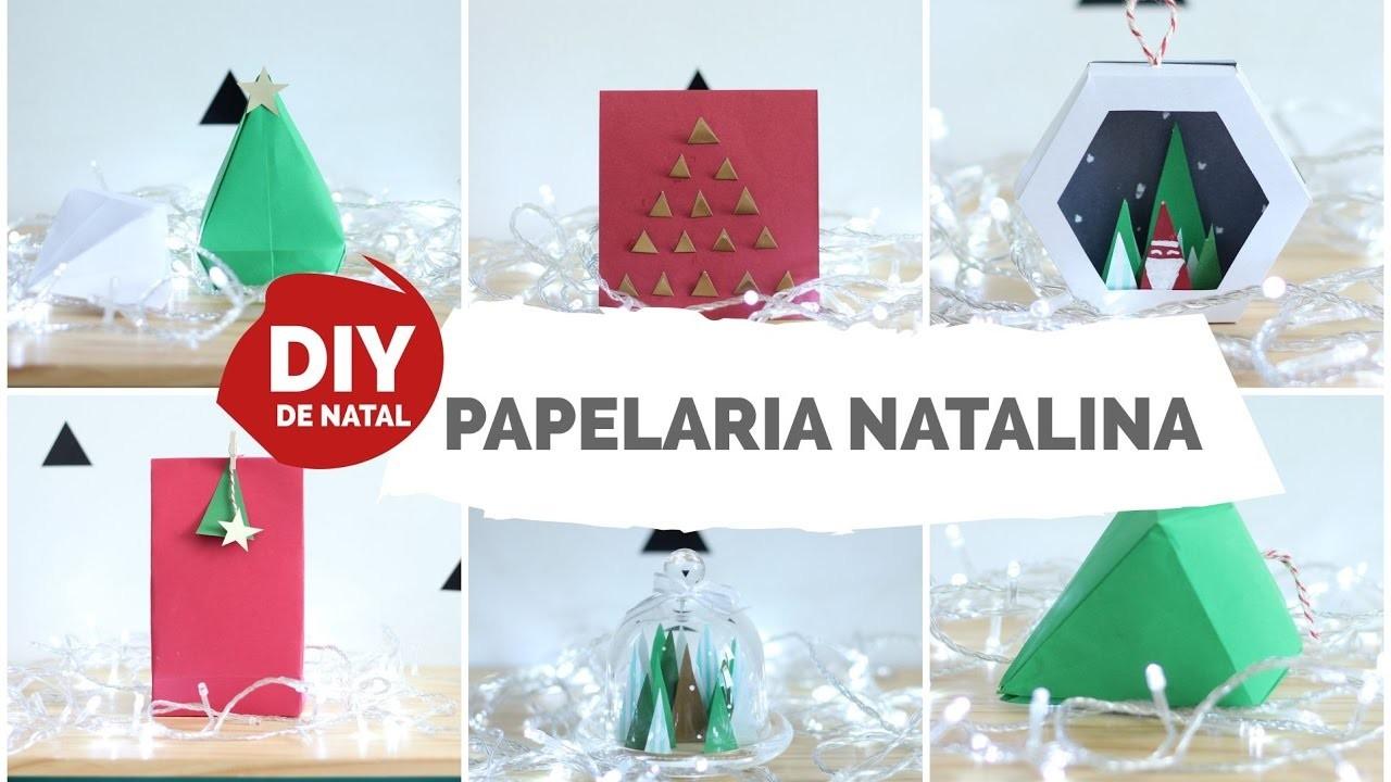 DIY DE NATAL #3 | Cartão de natal , embalagem, enfeite de árvore, presente | Faça seu Natal DIY