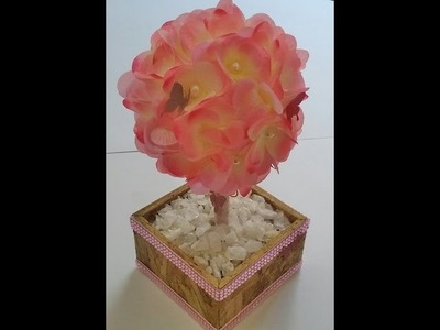Topiaria com flores artificiais - Aula parte única