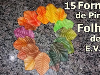 15 Formas de Pintar suas Folhas de e.v.a