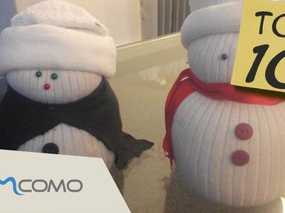 Boneco de neve de meia | DIY