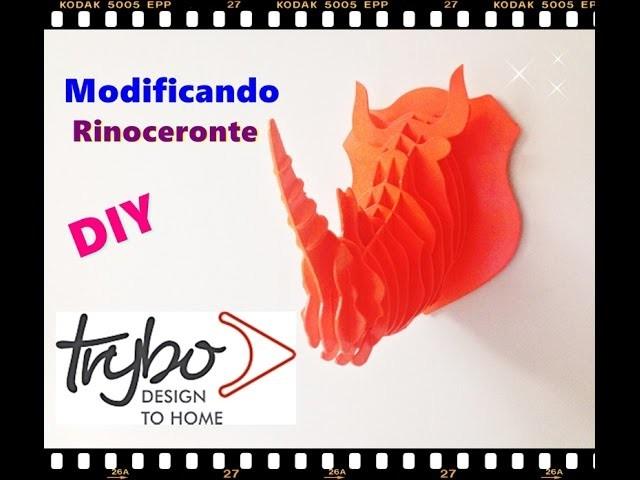 "Colorindo Rinoceronte ''Parceria Trybodesign"""""