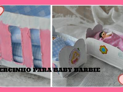 Como fazer bercinho cama para baby Barbie
